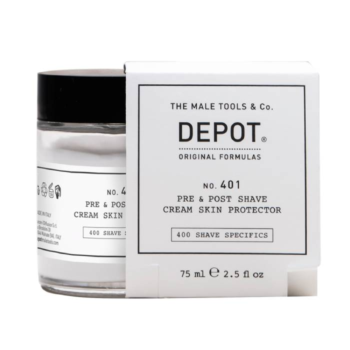 Depot No 401 Pre and Post Shave Cream Skin Protector 75Ml