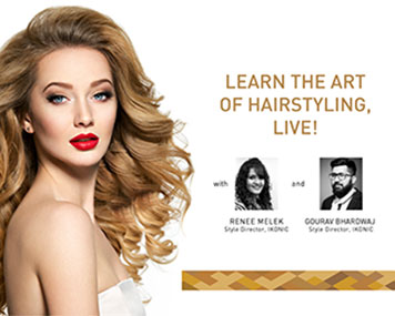 Learn The Art Of Hair Styling, Live !!